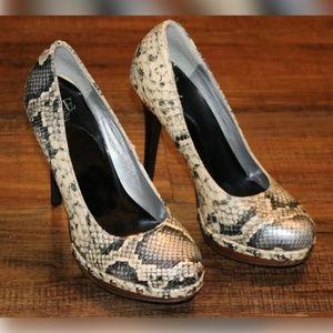 BKE Size 6 Faux Snakeskin 5 Inch Stiletto Heels